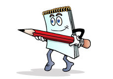 Note hold a pencil royalty free stock images