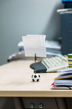 Note holder with soccer ball Stock Photography