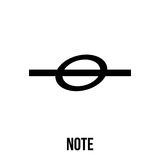 Note icon or logo in modern line style. Stock Photos