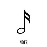 Note icon or logo in modern line style. Royalty Free Stock Images