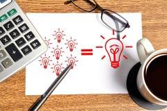 Note idea formula Stock Image