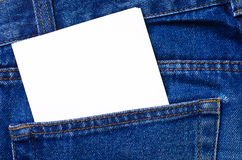 Note in jeans pocket Stock Image