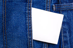 Note in jeans pocket Stock Photos
