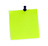 Note list with black pin Stock Photography