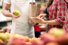 Note message for food market Royalty Free Stock Image