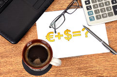 Note money formula Royalty Free Stock Images