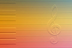 Note of music. Colorful note of music Royalty Free Stock Image