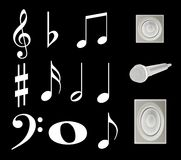 Note, music. Background of the characters, theme music Royalty Free Stock Image