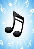 Note music background Royalty Free Stock Photo