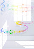 Note music score Stock Image