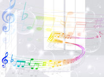 Note music score Royalty Free Stock Image