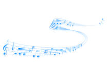 Note music score Royalty Free Stock Photography