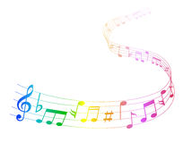 Note music score Royalty Free Stock Images