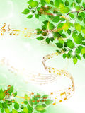 Note music score Royalty Free Stock Photos