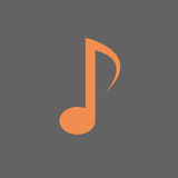 Note Musical Sign Icon Music Concept Stock Photo