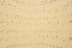 Note musicali. Fotografie Stock
