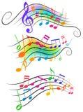 Note musicali Immagini Stock