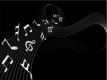 Note musicali Fotografie Stock