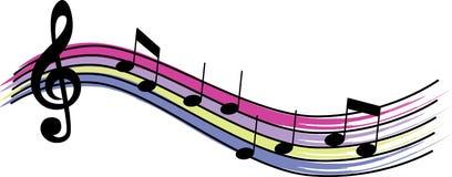 Note musicali Fotografia Stock