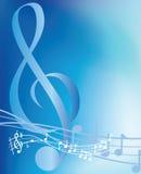 Note musicali blu Fotografia Stock