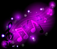 Note musicali brillanti Fotografie Stock