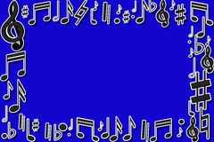 Note musicali della pagina Fotografie Stock