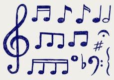 Note musicali di vettore Fotografia Stock Libera da Diritti