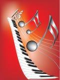 Note musicali e tastiera Fotografie Stock