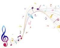 Note musicali multicolori Fotografia Stock Libera da Diritti