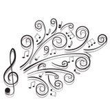 Note musicali. Fotografia Stock