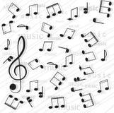 Note musicali. Immagini Stock