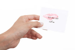 Note with number Royalty Free Stock Image