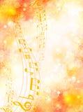 Note o bordo da música Imagens de Stock