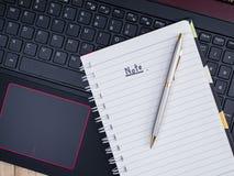 Free Note On Laptop Keyboard 1 Royalty Free Stock Image - 77426496