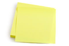 Note over white background Stock Photo
