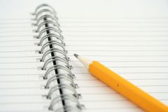 Note pad. On a white background Royalty Free Stock Images