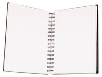 Note Pad. Blank Note Pad isolated on white Background stock image