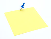 Note pad. Post It Note Pad on White Background Stock Image