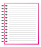 Note pad. White note pad with spiral Royalty Free Stock Photography