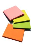 Note pad. Muสti colors empty note pad Royalty Free Stock Photos