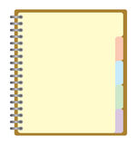 Note pad. With spiral, Vector Royalty Free Stock Images