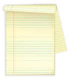 Note pad. Vector illustration of a striped note pad Stock Image