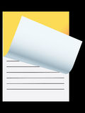 Note pad. Vector note pad in black background Stock Image
