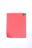 Note pad. Red note pad on white background stock images