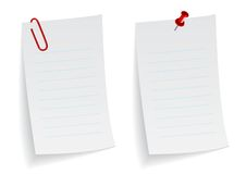 Note pad. Illustration of a white note pad Stock Photo