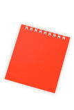 Note Pad. Red Note Pad close up shot Stock Photography