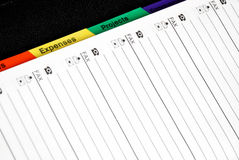 Note Pad. Close up of Note Pad Royalty Free Stock Photos