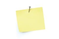 Note Pad And Nail Stock Photos