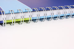 Note pad binding rings Royalty Free Stock Photo