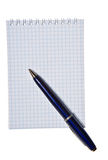 Note pad with copy space. Spiral note pad with copy space and pen Royalty Free Stock Photography